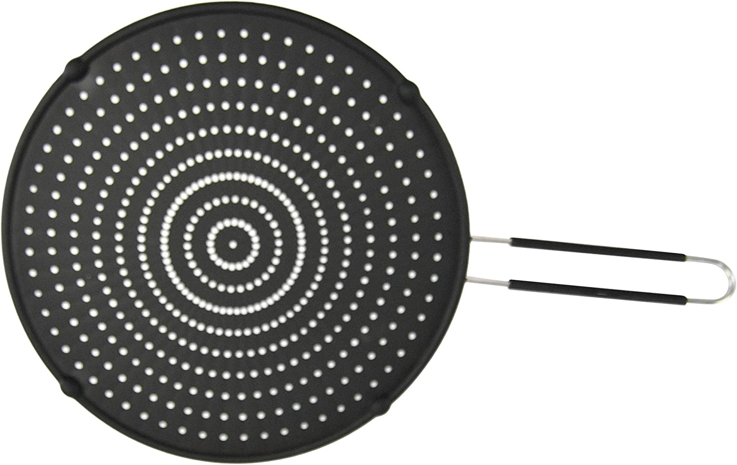 HOME-X Silicone Splatter Guard for Frying Pan, Grease Shield, Cooking Screen for Frying and Oil Spatter, Skillet Splatter Screen, 19 ¾