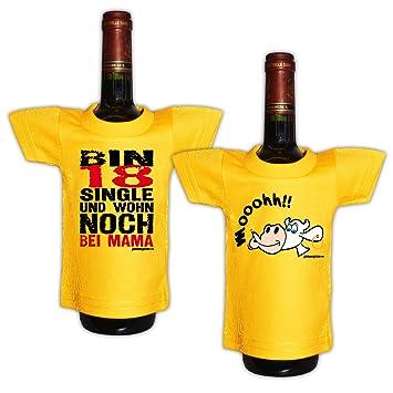 Lustiges Geschenk Zum 18.Geburtstag Mini T Shirt Für Flaschen : / Bin 18