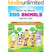 How to Draw Zoo Animals Step-by-Step: Easy Drawing Lessons for Kids to Learn to Draw Animals from Zoos in Chibi Style