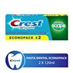 Crest Complete Blancura+Scope Pasta Dental 2x120ML