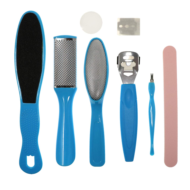 Waycreat 8 in 1 Professional Pedicure Kit Exfoliating Remover Dead Skin Manicure Foot Skin Care Tool Set