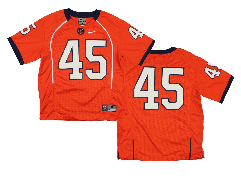 Nike Jungen NCAA Big Youth Illinois Fighting Illini   45 Fußball Jersey, orange