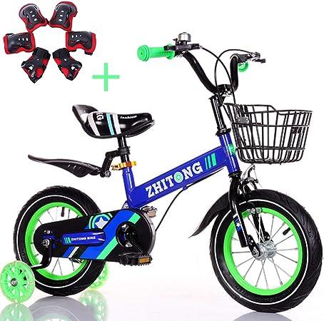 LIUCHANG Las Bicicletas de los niños, niños y niñas Bicicletas, Seguro y Ligero, 12/14/16/18 Pulgadas Bicicletas de niños (Intermitente Auxiliar Ruedas), Rosa, 14 Pulgadas YCLIN liuchang20: Amazon.es: Hogar