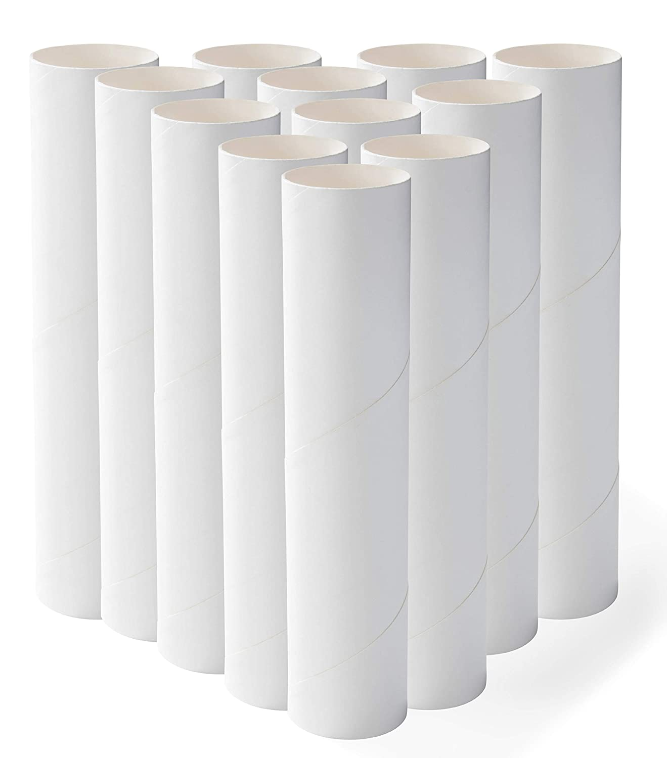 8-Inch White Paper Cardboard Tubes for DIY Arts and Crafts Projects Genie Crafts 12-Pack Craft Rolls