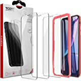 TOZO for iPhone Xr Screen Protector 6.1 Inch (2018) [3-Pack] Premium Tempered Glass [0.26mm] 9H Hardness 2.5D Film Super Easy Apply for iPhone 10r / Xr 6.1 inch