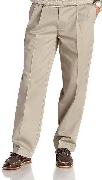 a851fe15e491f Izod Men s Big   Tall Pleated Extended Twill Pant  Amazon.ca ...