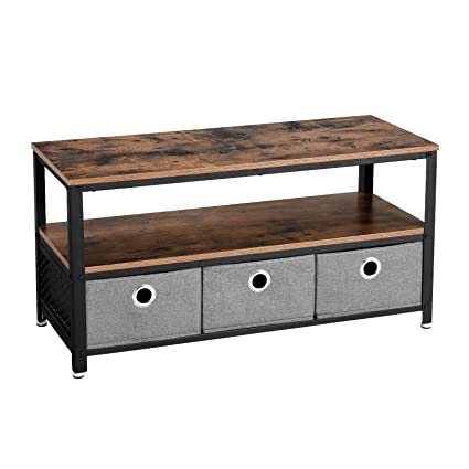 Perfect VASAGLE Vintage TV Stand, TV Cabinet, Mini Coffee Table, Wood Look Accent  Furniture