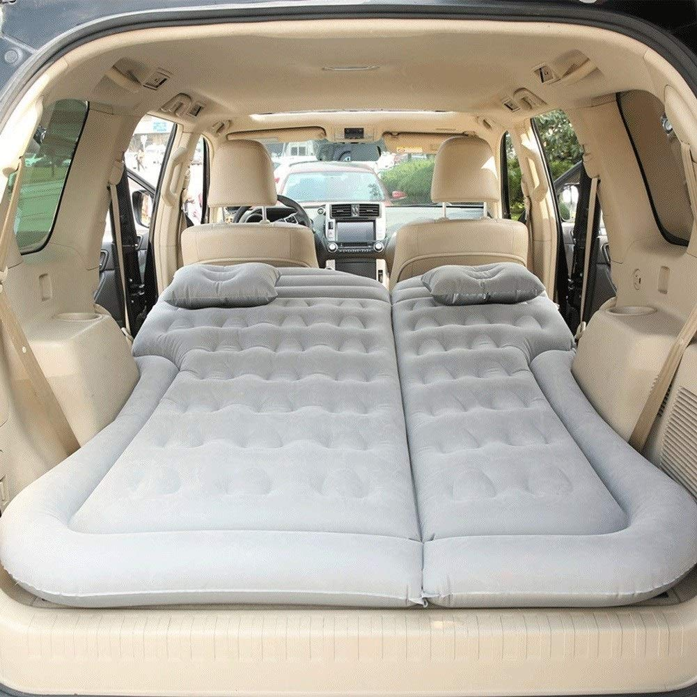 Large Size Durable Car Back Seat Cover Car Air Mattress Travel Bed Moisture-Proof Inflatable Mattress Air Bed for Car Interior, 180 X 130CM CIM0918 (Color : Gray) by ZCY-Auto Mattress
