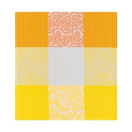 Le Jacquard Francais Toalla Flores de Kyoto, algodón, Soleil, 58 x 58 cm