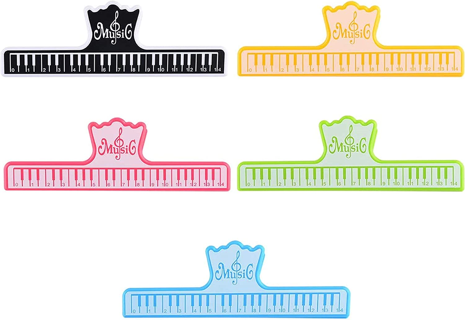 Bluecell 5pcs Plastic Music Book Clips Music Page Holder for Sheet Music Stands - Perfect for Kids, Adults, Music/Piano Players Musicians
