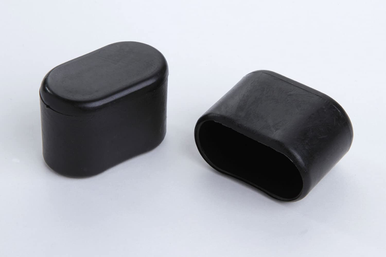 und Aussenbereich 4 St/ück Stuhlbeinkappe Stuhlbeinschutz Bodenschutz Stuhlschoner Kunststoff schwarz 30 x 15mm f/ür alle B/öden im Innen