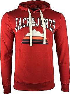 JACK   JONES Herren Hoodie Kapuzenpullover Sweatshirt Pullover Casual Print 9e6fbfd458