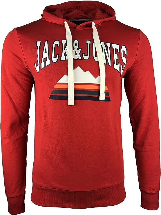 JACK   JONES Herren Hoodie Kapuzenpullover Sweatshirt Pullover Casual  Print  Amazon.de  Bekleidung ab00d290e0