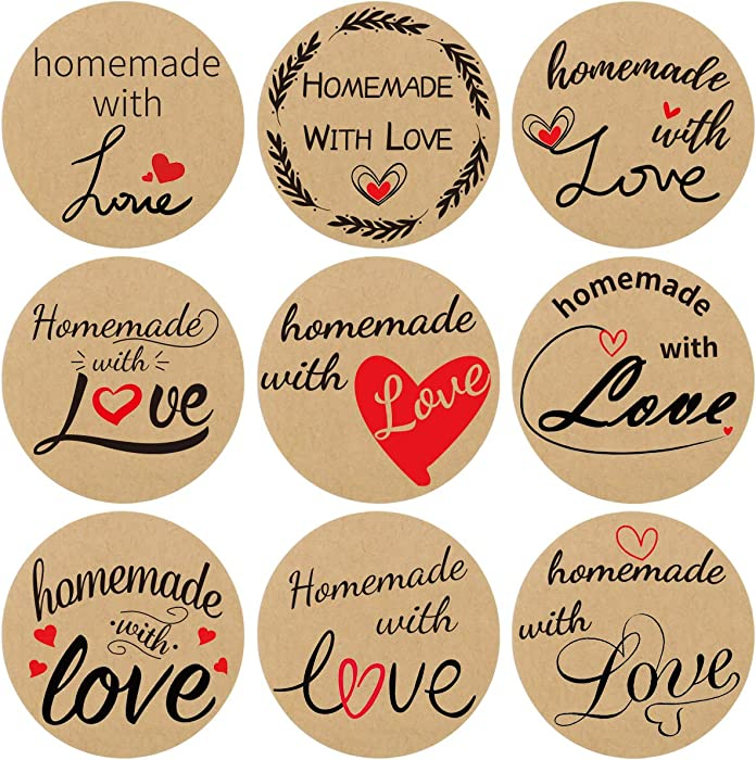 The Best Home Made With Love Stickers