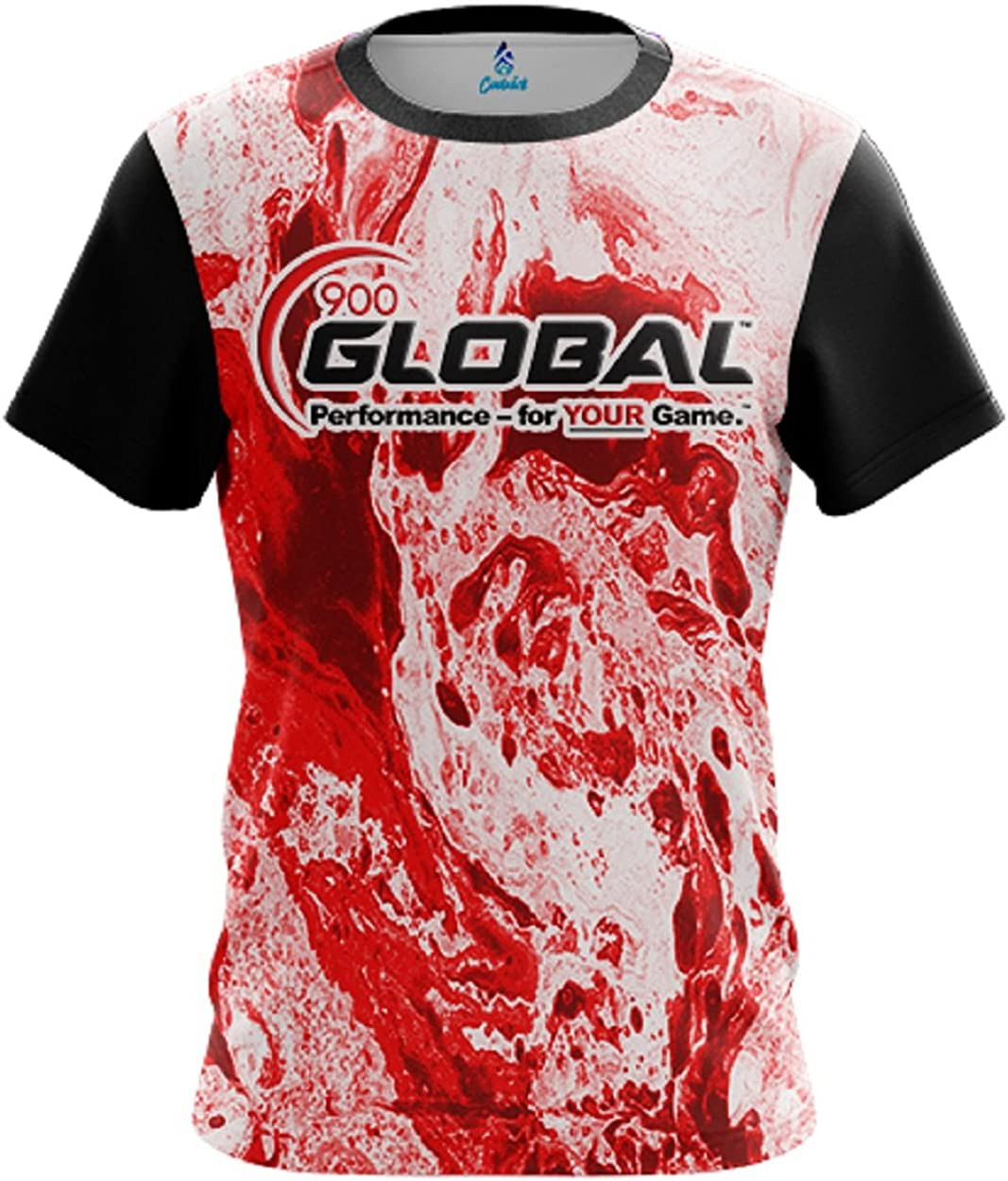 CoolWick 900 Global Mens Marble Red Bowling Jersey