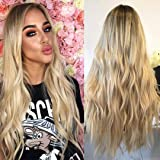 Mildiso Blonde Wigs for Women Long Ombre Colored Wavy Hair Wig Natural Looking Perfect for Daily Party Addison Cosplay…