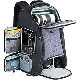 Camera Backpack, BeschoiWaterproof Camera Bag with Tripod Strap and Rain Cover Large Capacity Rucksack for Digital SLR Camer