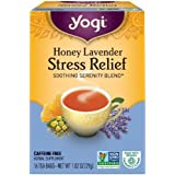 Yogi Tea Herbal Stress Relief, Honey Lavender 16 ea ( pack of 4)