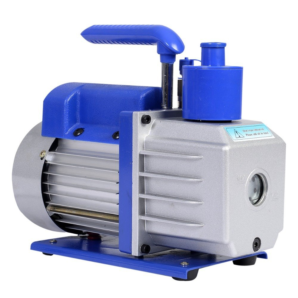 HFS (R 3CFM Rotary Vane Vacuum Pump Single Stage HVAC 1/4HP Air Conditioning A/C Deep