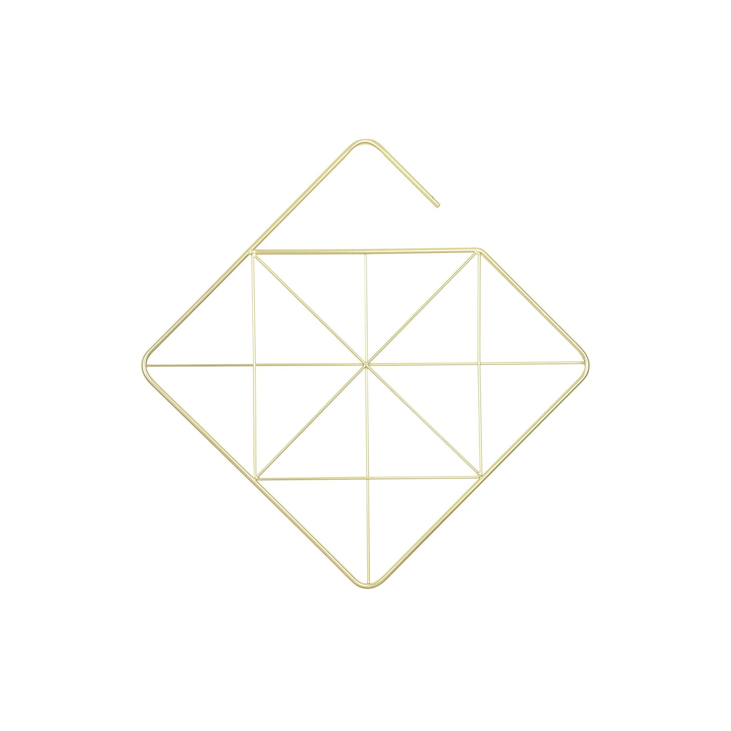 Umbra Pendant Diamond Geometric Copper Scarf Hanger/Accessory Hanger, Brass by Umbra