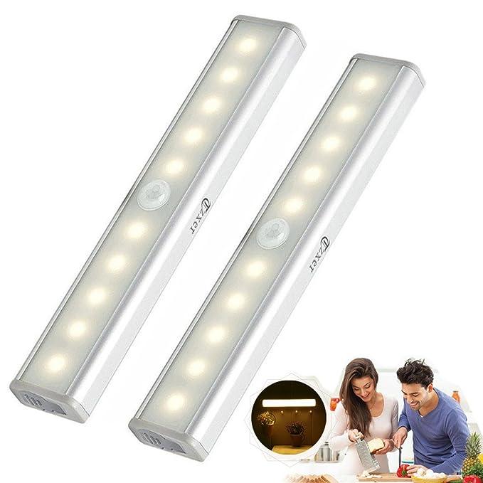 43 opinioni per [Upgrade] Luce Notte LED, Luci per Armadio a Batterie 2 pezzi, Lampada Armadio
