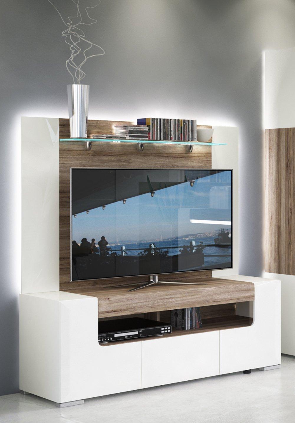 Toronto Tv Cabinet With Wall Panel Medium Living Room