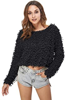 cdf03ac277501b Carprinass Women s Pullover Boat Neck Jacquard Sweaters for Autumn and  Winter