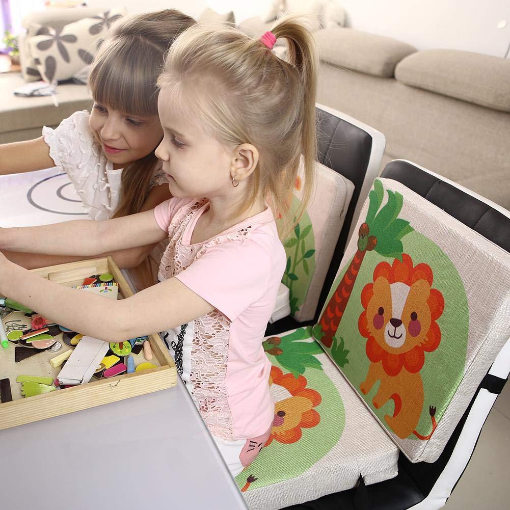 33 33 6,5 cm Premium Cuscino per Sedia Bambino con Rialzo Portatile Stampa Animale Carino Regolabile Cuscino 33 33 4,5 cm whelsara Cuscino Bambino