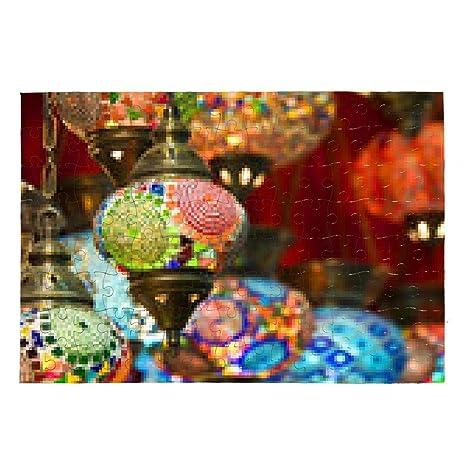 Puzzle Lampade Orientali In Gran Bazar Di Istanbul Turchia Gli