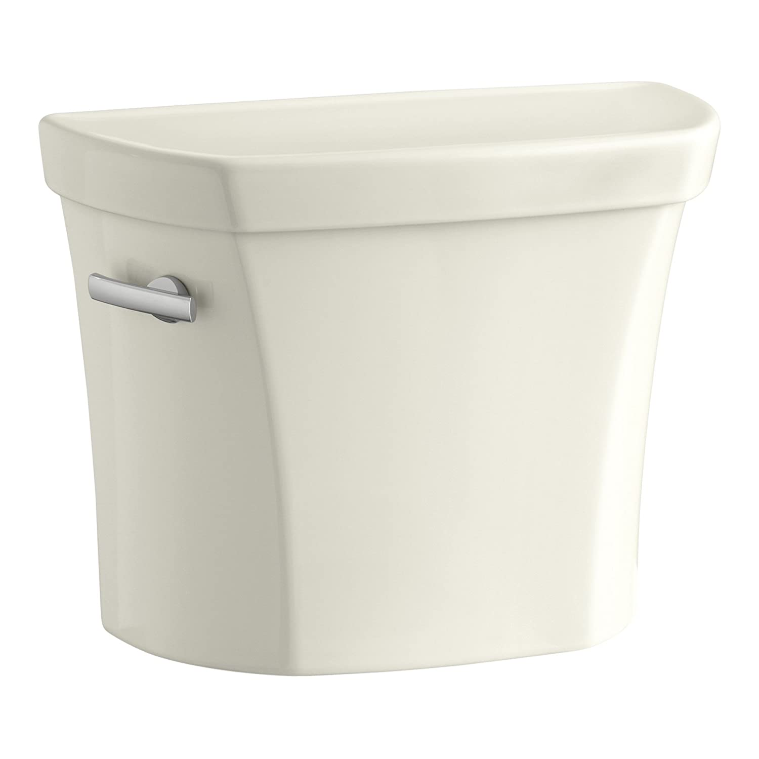 KOHLER K-5311-96 Wellworth 1.28 GPF Toilet Tank for Concealed Trapway Bowl with Left-Hand Trip Lever, Biscuit
