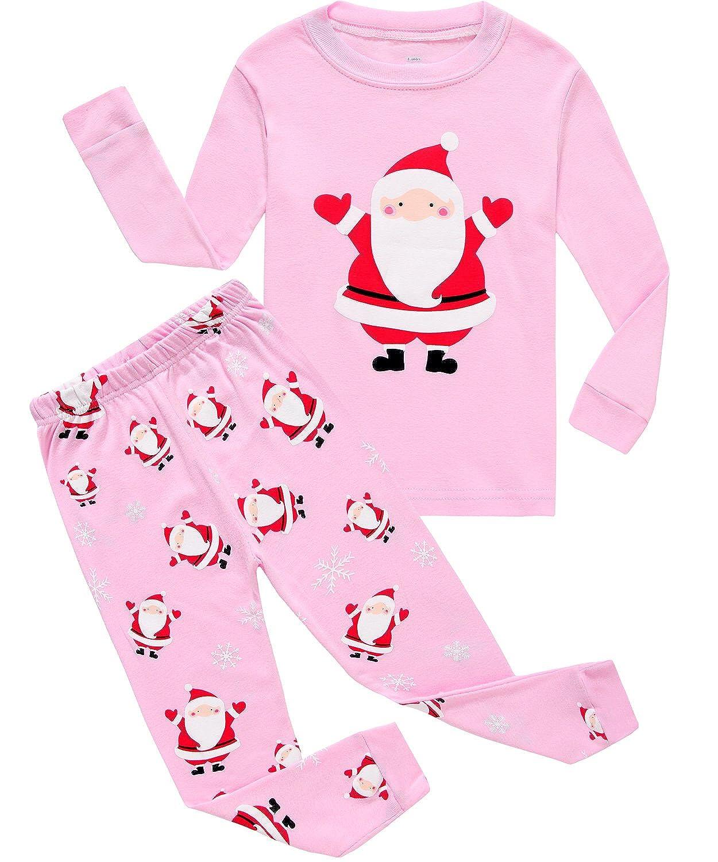 IF Pajamas Christmas Tree Little Girl Pjs Long Sleeve Kid Pajamas