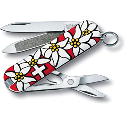 Victorinox V06203.840B1 Navaja Pequeña Classic, Edelweiss Blister, Multicolor, S