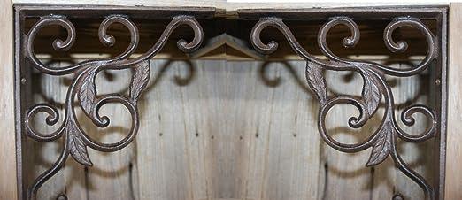 8 Flower Wall Shelf Brace Shelf Bracket Corbel Cast Iron Rustic FREE SHIPPING