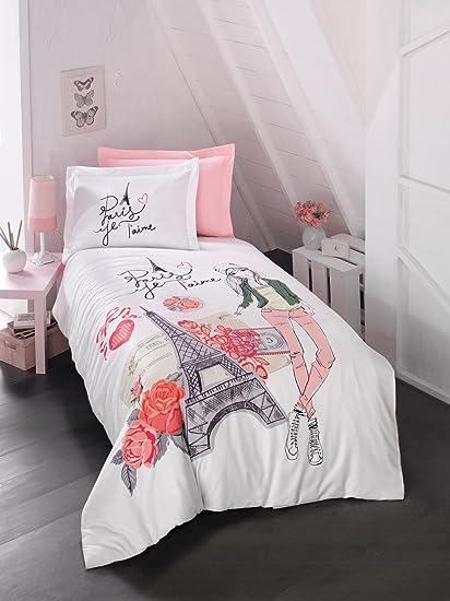 bekata amour je taime paris bedding set 100 cotton singletwin - Paris Bedding