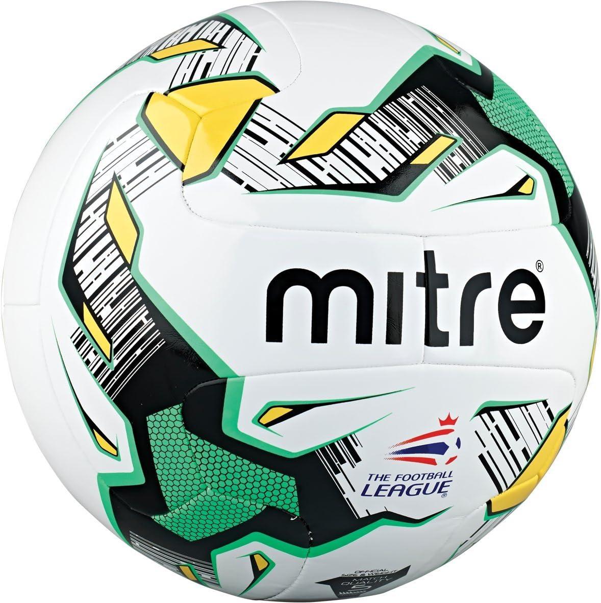 Mitre Delta Hyperseam - Balón de fútbol, Color White/Black/Yellow/Green, tamaño Talla 5: Amazon.es: Deportes y aire libre