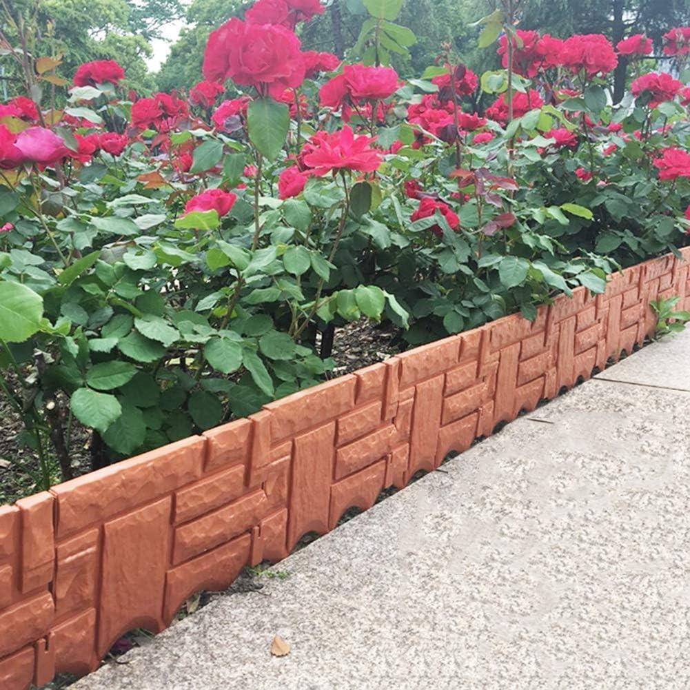 YINUO Cercos Jardín Poste de la Cerca de la Pantalla del césped del jardín Poste de la Cerca del Borde de la decoración de Protección Ambiental Duradero Cut Off Estable Artesanal de