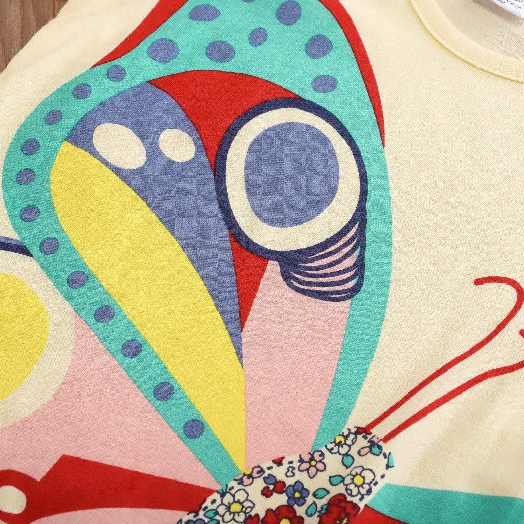 JUTOO Kleinkind Kinder Baby Jungen m/ädchen Kleidung Kurzarm niedlichen Cartoon Tops t-Shirt Bluse