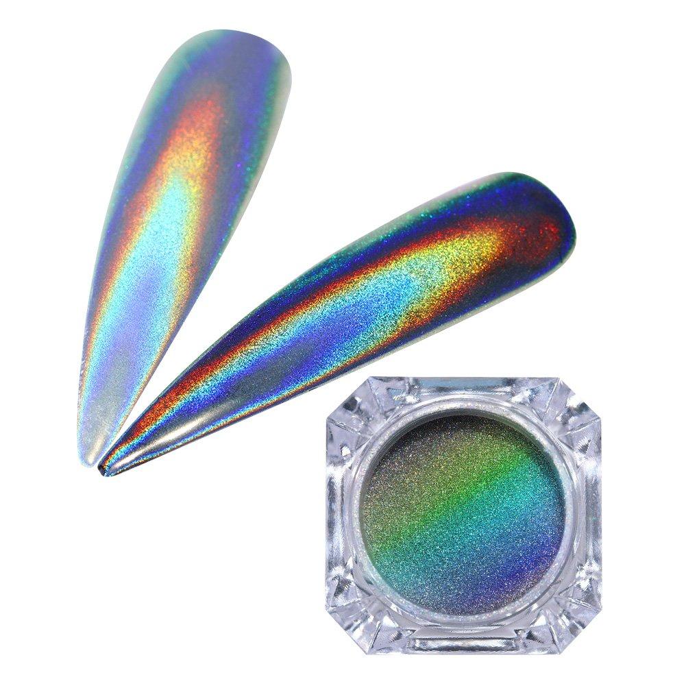 Born Pretty 1g Holographic Powder Nail Glitter Rainbow Pigment Manicure Chrome Pigments