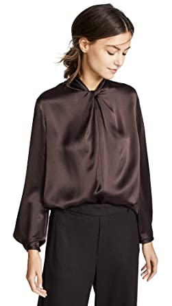 2646e0eb49e09 Amazon.com  Vince Women s Neck Knot Blouse  Clothing