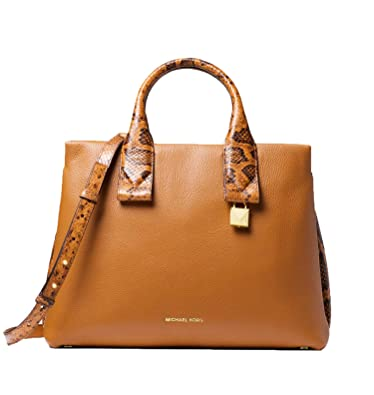 1a19419a6410 MICHAEL Michael Kors Rollins Large Snake-Embossed Leather Satchel ...