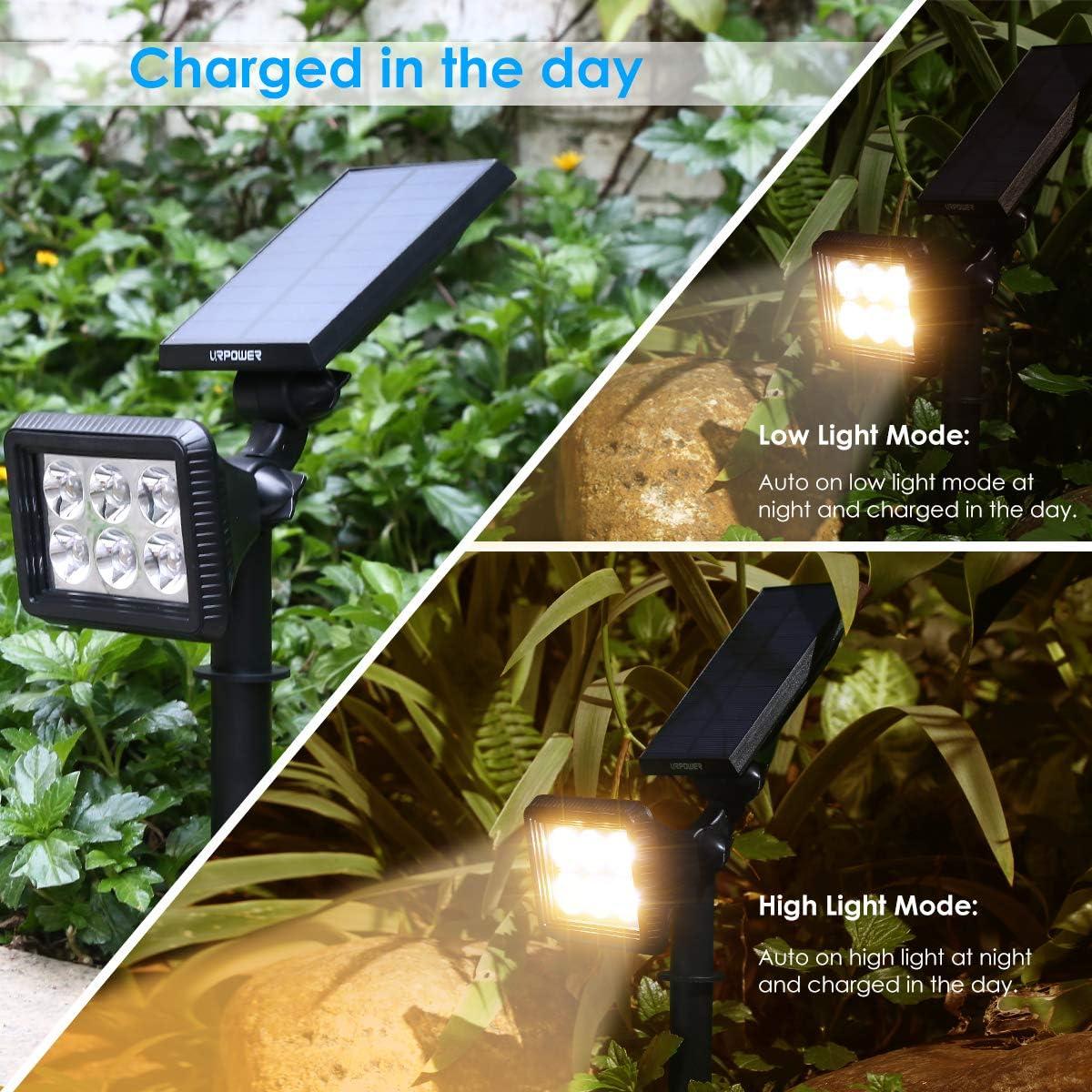 Outdoor Garden Spike Light Long Life Spotlight Tree UpLighter Lamp Black Path#GG