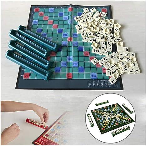 mrGood English Scrabble Juego de Mesa de Juego de Palabras Cruzadas para niños, Rompecabezas inglés para Mesa de ortografía: Amazon.es: Deportes y aire libre