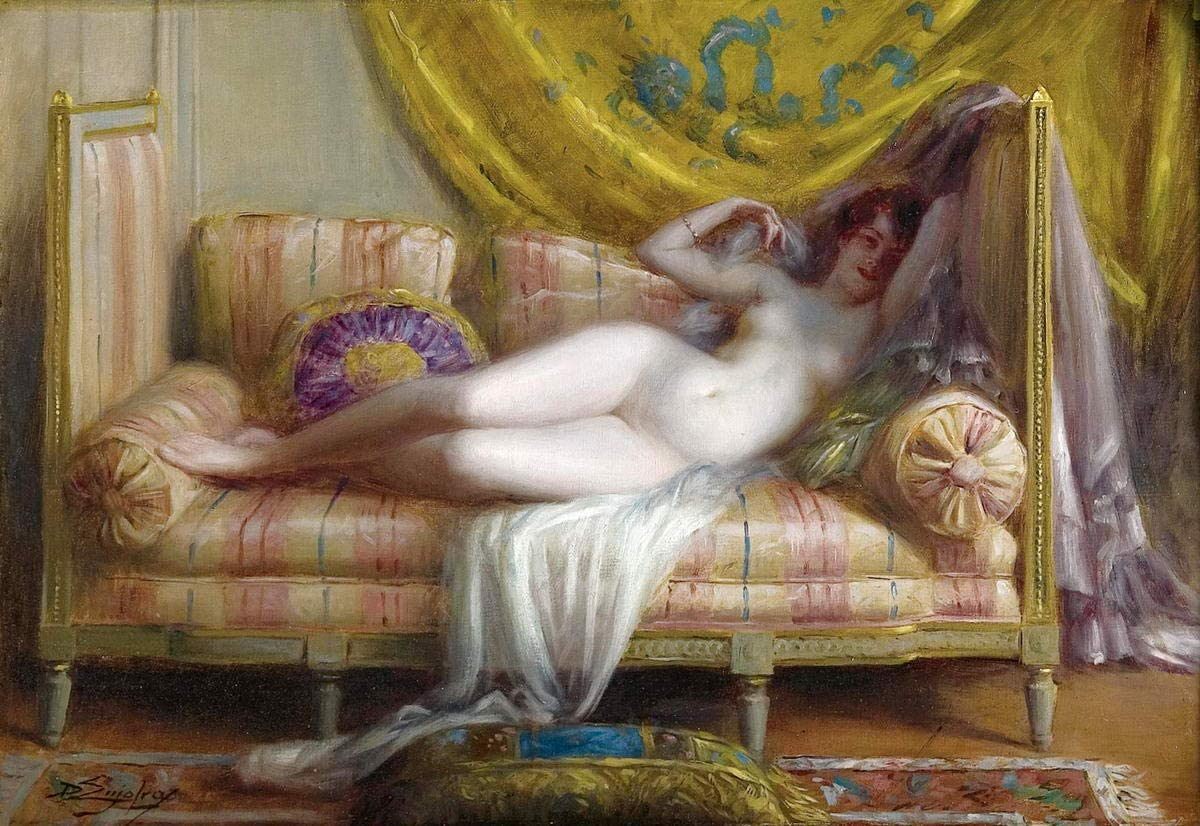 Berkin Arts Delphin Enjolras Giclee Print On Canvas-Famous Paintings Fine Art Poster-Reproduction Wall Decor(Odalisque) #XFB