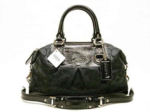 b5606d61f5 Coach Signature Ashley Sabrina Duffle Satchel Shoulder Bag Purse 15443 Black   Amazon.ca  Shoes   Handbags