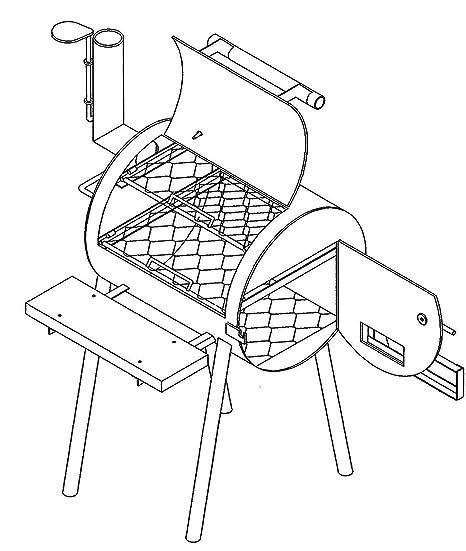 Amazoncom 24 X 20 Bbq Pit Grill Plans Blueprints Model P