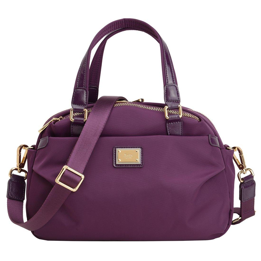 Women's Nylon Handbag Casual Crossbody Bag Laifu Waterpoof Singer Bag Dual Use Perfect for Outdoor,Weekend ,Shopping ,Travel, Purple