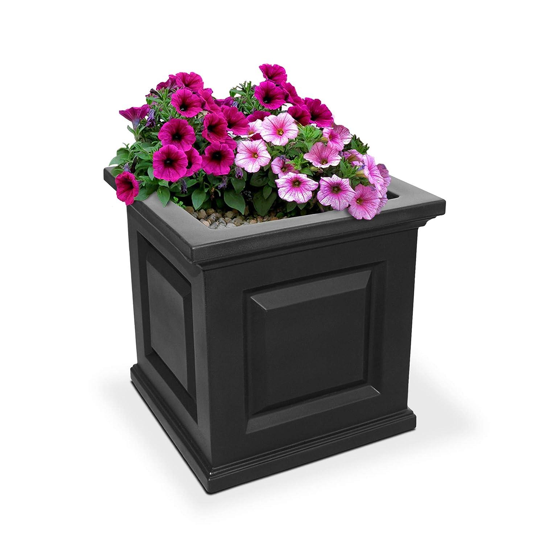 Mayne 5865-B Nantucket Polyethylene Planter, 16 x 16 , Black
