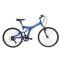Aomais Bicicleta Plegable Montaña Rodada 26 Ligera Unisex 7 Velocidades Shimano Suspensión Doble Varios Colores