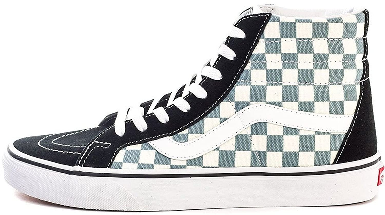 Vans SK8 Hi Reissue Aqua Check Suede Unisex Skate Trainers-13:  Amazon.co.uk: Shoes & Bags