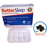 Better Sleep Moldable Silicone Earplugs for Sleep, Swimming, Studying, Snoring, Concerts, Noise Cancelling